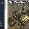 Tower Defense Kit 攻め入る敵を追撃するタワーディフェンス用の固定砲台3Dモデルキット