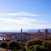 イタリア・フィレンツェ: 街を一望できるミケランジェロ広場