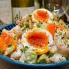 【レシピ】海老とアボカドと半熟卵のオイマヨサラダ