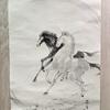 「馬」を描く。線は、私を描く。