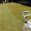 今年最後の芝生刈り 〜アパートの庭〜