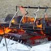 ピコグリル398×ユニフレームの五徳を使ってハンバーガーを作るデイキャンプ/渚園キャンプ場