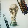 FIFAワールドカップのトロフィーをリアルに描いてみた‼