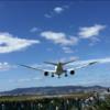 飛行機がすぐ上を通過・・・伊丹空港近くの千里川の土手に行ってきた