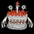 かわいい誕生日ケーキ のイラスト