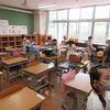 1・2年生:登校後の教室:手を洗って、お茶を飲んで、用具を出して