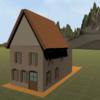 【ゲーム制作】Blenderを使ってラビットハウスっぽいやつをモデリングする⑤