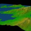 Java3Dで数値地図50mメッシュ(標高)を表示(その2)