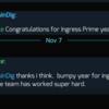 Ingress Prime1周年:メッセージ