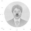 Rでインボリュート曲線を波打たせて人の顔っぽいのを描く