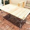 ルーフバルコニーで使うのに最適なアウトドアテーブル。コールマン ナチュラルウッドロールテーブル120を使ってみた。