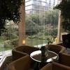 庭園が素敵、ダブルツリー・バイ・ヒルトン上海浦東 スイートルームとラウンジ