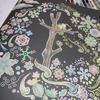 完成】なんちゃってスクラッチアート風に塗ってみたページが塗りあがりました☆やすらぎの花園より