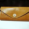 【レザークラフト】超簡単な手作り長財布作ってます!