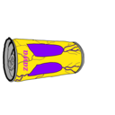 暗闇の空き缶捨て場