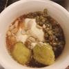 石膏で固める本格豆花と芋圓をつくった。