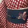 【着物コーディネート帖】格子柄の銘仙着物にデニムっぽい名古屋帯を合わせて。