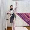 編み物でもアートを感じる毛糸エミーリエで、ネックウォーマー。
