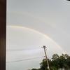 雨上がりに2重の虹を発見