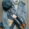 オルゲイユのサックジャケットにショールカラーシャツでクラシカルなコーディネート☆