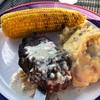 イエローストーン国立公園 北の玄関口 Iron Horse Bar and Grill でバイソンのステーキを食す