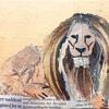 ライオンのちぎり絵