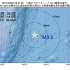 2017年09月22日 03時47分 三陸沖でM3.0の地震