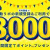 Yahoo 自動リボ登録&利用でもれなく3000ポイント