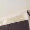 廻り縁付けた・トイレクッションフロア・便器設置・木部塗装