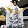 熊本城描いた振り袖、芸大生の成人式
