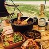 簡単キャンプ飯!ダッチオーブンで作る簡単パエリア