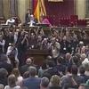 スペイン カタルーニャ州が独立の是非問う住民投票法案可決