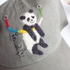 【ハンドメイド】ぶら下がりん動物キャップ【パンダ】