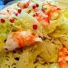 フライパンだけで海老と春キャベツの塩麹サラスパ