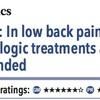 ACPJC:Therapeutics ガイドライン:腰背部痛では非薬物療法が推奨される