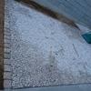 外構工事30日目~砂利とコンクリートの仕上げが出来ていました