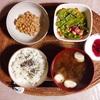 豆サラダ、小粒納豆。