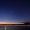 錦江湾の夜明け前