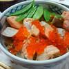 今日の晩飯 鮭はらこ飯とひじきの煮付けを作ってみた