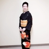 【コーディネート例】黒留袖で舞台に出演