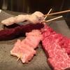 大阪で牛串と言えば。絶対の自信を持つお肉を食べながら飲むビールもまた、旨くないわけがない。牛串萬の