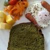 とある日の朝食~抹茶からのグルテンフリー~