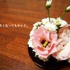 小さくなっていくアレンジ・:*+.写真でお花の寿命を美しく追います。
