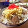 梨ソースのポークソテーと鶏ごぼうご飯