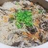 土鍋で舞茸ご飯