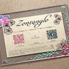 【Zentangle】ゼンタングルでオリジナル・フォトフレーム