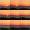 水平線に沈む夕日と、治部煮の離乳食