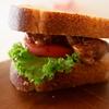 【ホシノ酵母】胚芽入り山食パンのサンドイッチ