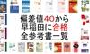 偏差値40から1年で早稲田文系4学部に受かるために使用した、全参考書一覧