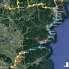 JR気仙沼線BRTルート図(2019年5月現在)